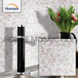 Le mur gris-clair de mosaïque d'hexagone de feuille de décoration de salle de bains couvre de tuiles le fournisseur