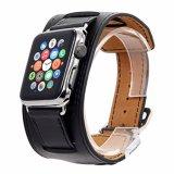 Appleバンドのための42mm型の袖口の革腕時計の置換ストラップ