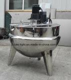Camisa de Agua de Acero Inoxidable Industrial Pot con mesa de mezclas