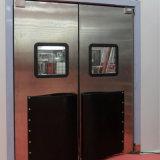 単一か二重葉のステンレス鋼のドアの影響のトラフィックのドアの振動ドア