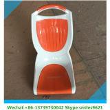Asiento plástico anaranjado del omnibus con el amortiguador del paño