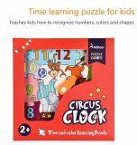 Vorschulausbildungs-Spielwaren-Geschäftszirkus-Taktgeber-hölzerne Puzzlespiel-Spiele