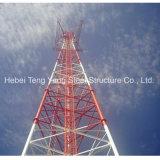 Comunicación de tubo galvanizado de tres columnas de acero de la torre WiFi GSM