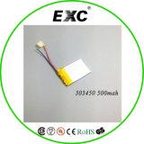 Las baterías recargables de polímero de litio-ion 3.7V 500mAh Exc303450 para DVR