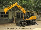 Mini excavadores chinos Bd95 de la rueda de Baoding para la buena calidad de la venta