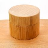 Vaso crema di bambù libero vuoto bianco di plastica della bottiglia per cura di pelle