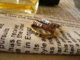 Boxing rings for Women Lovely 8X Retro Wish Letters Hot Couples Boxing rings