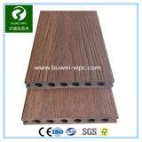 Decking redondo compuesto plástico de madera al aire libre del orificio de la sección hueco