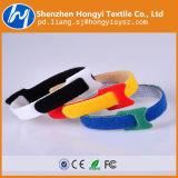 Hongyiの工場ケーブルのタイのHookloopの締める物