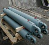 Cilindro ativo dobro do petróleo de Hydraulin da série de Hsg com o pistão para o braço da máquina escavadora