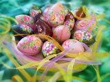 부활절 당 다채로운 그려진 플라스틱 훈장은 존재하는 선물을 Eggs