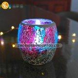 卸し売り美しい円柱電気めっきのアナグリフの多彩なガラスロウソク