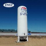 El tanque de almacenaje del CO2 del líquido criogénico