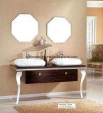 Gabinete de banheiro do espelho dobro & do aço inoxidável do dissipador