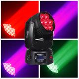 Mini effet 7 * 12W LED Zoom Moving Head DJ Disco Stage Lighting