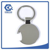 Abridor de frasco do volume da medalha da forma do futebol do metal com Keyring