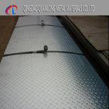 1050 3003 5052 Aluminium Geruite Plaat voor Dek