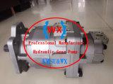 Pompe à engrenage hydraulique Komatsu Wa500-3 705-52-52-31130-31130/705 hydraulique Wa500-1-une pompe à engrenages pour machine/BULLDOZER KOMATSU pompe de direction, Pompe à engrenage double,