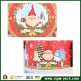 Коробка подарка декоративного рождества круглая бумажная
