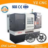 수평한 편평한 침대 CNC 선반 바퀴 수선 기계