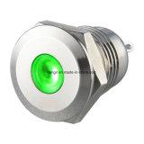 P12 de 12 mm latón niquelado Indicador de iluminación DOT (P12)