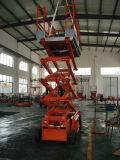 CE証明書(JCPTZ610HD)で6メートルの電気シザーリフト