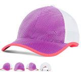ピンクのトリムの端の女の子のゴルフスポーツの野球帽および帽子