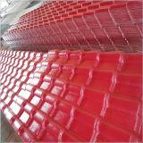 El material para techos acanalado del plástico a prueba de calor cubre tipos de azulejo de material para techos del panel de pared