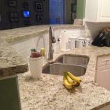 Countertops гранита золота Giallo орнаментальные для кухни