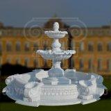 Sculpture en marbre blanc Granite Fontaine à eau pour l'extérieur de la décoration de jardin