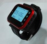 デジタル腕時計の無線ウエーター呼出しボタンシステム