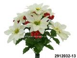 Poinsettia artificiale/di plastica/di seta del fiore, bacca Bush (2912032-13)
