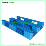 Blue Skid face unique pour le stockage de palettes en plastique durable