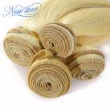 Capelli diritti biondi del Virgin della nuova stella 4 gruppi del tessuto dei capelli umani