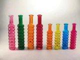 Neue Art verzierte billig farbigen Glasvase von der chinesischen Fabrik