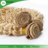 Cheveux humains d'onde de contact de Vierge de bonne qualité libre doucement lisse profonde blonde d'embrouillement