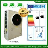 Koud-30c de winter 12kw, 19kw de Verwarmer van de Warmtepomp van Evi van de Centrale verwarming