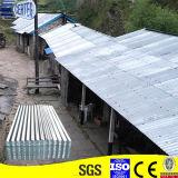 Hoja de acero acanalada acanalada del material para techos de la hoja de acero