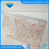 Cosmétique transparent en PVC de stockage personnalisé sac à fermeture éclair