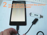 Tk4100カードサポートアンドロイドシステムの最初の10のディジットを読むための125kHz USB RFIDの読取装置