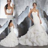 Organza 인어 Prom 복장 신부 웨딩 드레스 복장 (5604)