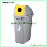 Gris ou vert écologique PP bac de recyclage pour les bouteilles
