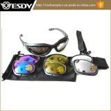 Уф400 спорта на открытом воздухе защиты очки защитные очки с 4 объектива