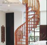 現代方法鋼鉄および木製の螺旋階段