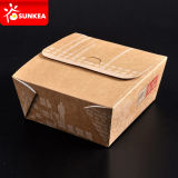 Изготовленный на заказ напечатанная тавром устранимая бумажная коробка Bento