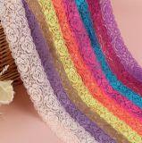 Farben-Blumen-Spitze der Form-6.5cm elastische mehrfache für Dress der Dame