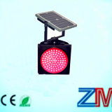 Высокая интенсивность солнечной энергии на базе красный мигает сигнальная лампа трафика