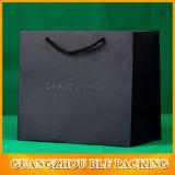 Мешок подарка черноты бумаги логоса пятна UV (BLF-PB312)