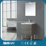 Самый новый европейский шкаф ванной комнаты меламина с зеркалом
