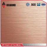 Dorado y plateado ACP Panel Compuesto de Aluminio pulido